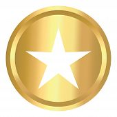 Star Shield Gold Icon, Star Shield Gold Icon Eps10, Star Shield Gold Icon Vector, Star Icon Shield G poster
