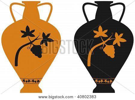 Amphora With Image Of Grape Vine
