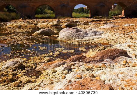 Bridge Over Rio (river) Tinto In Niebla (huelva)
