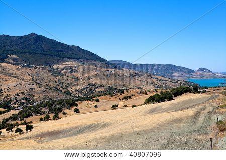 Spanish Mountains Close To Zahara De La Sierra