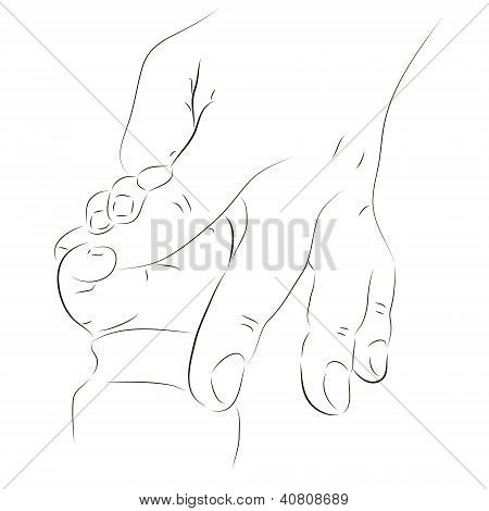 Father's And Baby's Hands