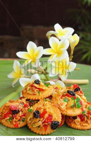 Crackers, dried fruits