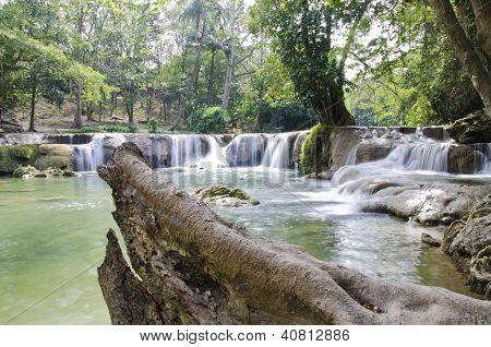 Deep Forest Waterfall(jed Sao Noi Waterfall) In Saraburi, Thailand