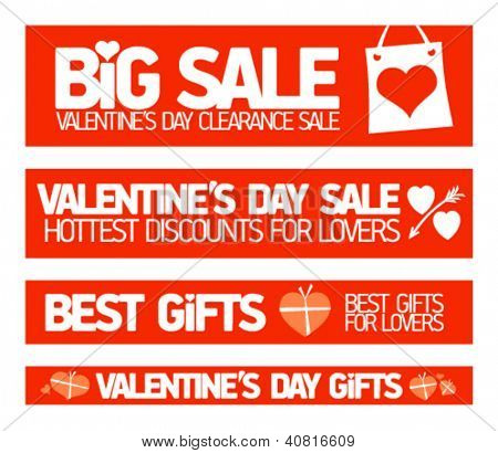 Valentine's day sale banners collection..