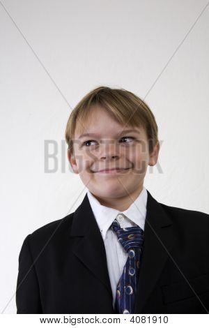 Smug Boy In Suit
