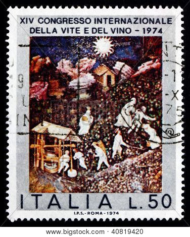 Postage stamp Italy 1974 October, 15th Century Mural