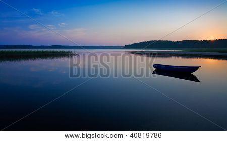 Sunrise Over The Lake.