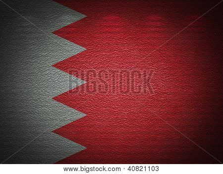 Bahraini Flag Wall, Abstract Grunge Background