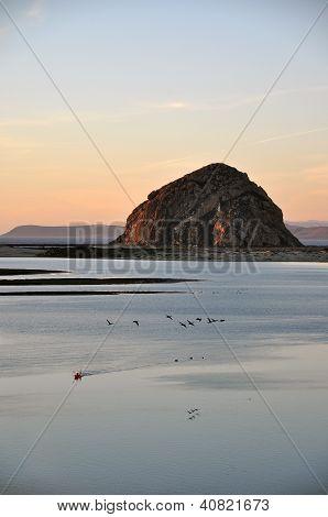 Morro rock at dusk