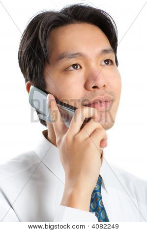 Businessman With Cellular