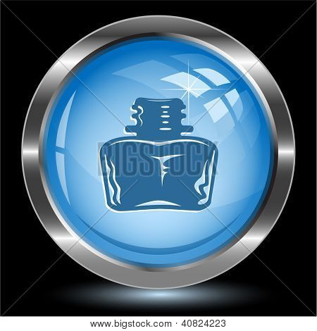 Inkstand. Internet button. Vector illustration.