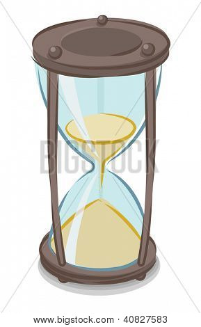 Vector illustration of cartoon style hourglass