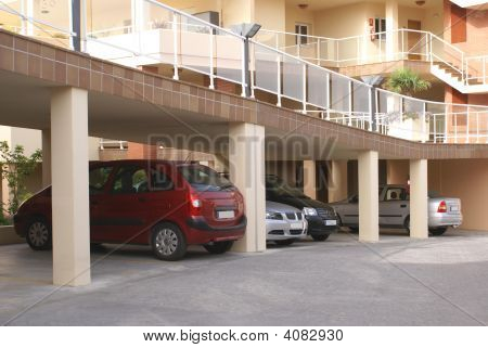 Cars In Parking Area