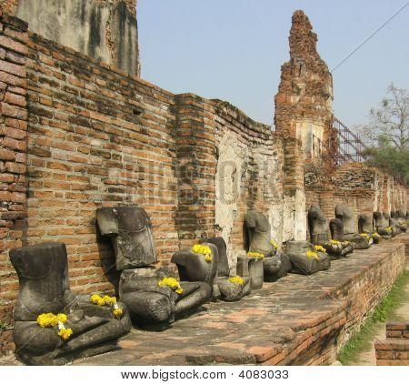Beheaded Buddhist Statues