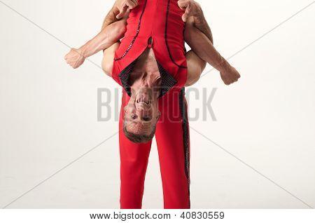 Upside Down Happy Acrobat