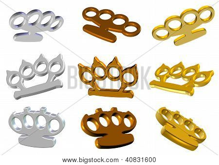 Knuckle Dusters 3D Set
