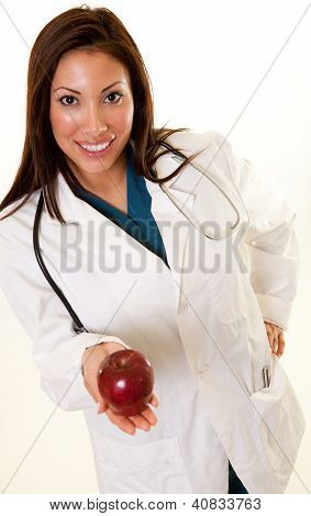 Healthcare Professional holding an apple