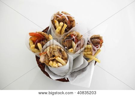 Greek Gyros In A Plate