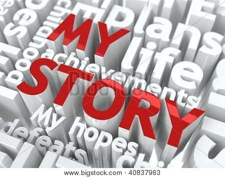 My Story - Text of Red Color.