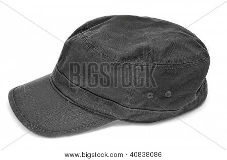 a gray cap on a white background