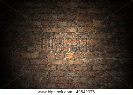 Old Red Brick Wall Plain