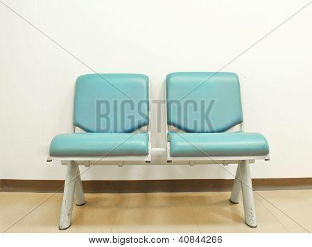 Twin Blue Leather Chair