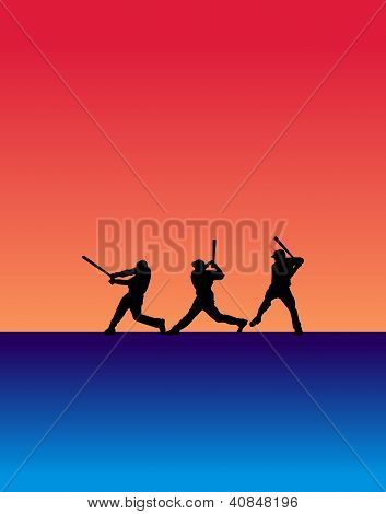 Three Batter Silhouettes