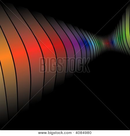 3D Rainbow Bars Wall