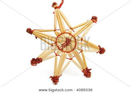 Christmas Decorative Star From Straw