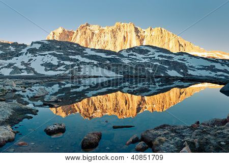 Sierra Nevada Alpenglow Reflection