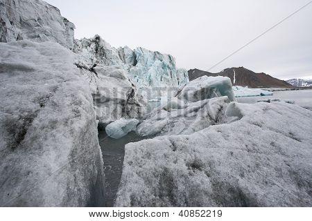 schmelzende Gletscher, globale Erwärmung