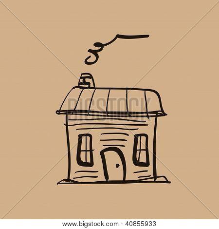 Vintage house icon