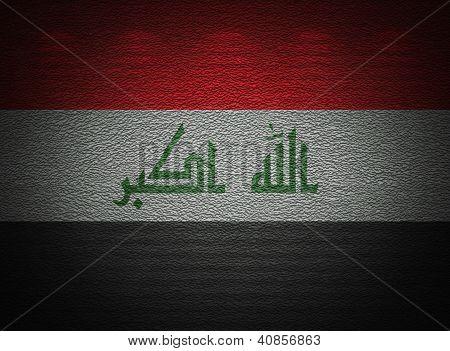 Bandeira iraquiana de parede, fundo abstrato Grunge