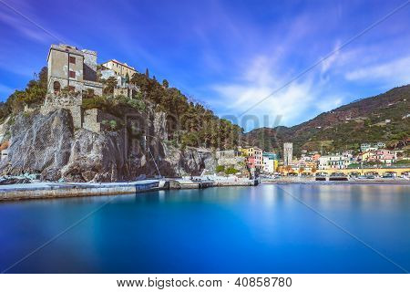 Monterosso Village, Harbor And Sea Bay. Cinque Terre, Liguria Italy