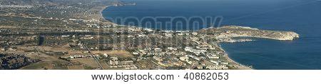 Tsambika Bay. Panoramic View