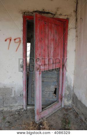 Door In Derelict Agricultural Building