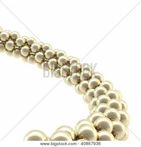 Abstract Background Made Of Sphere Composition