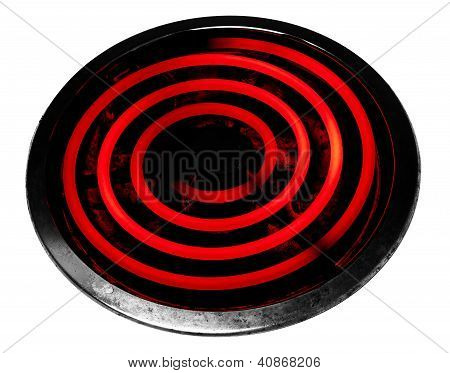 Glowing Electric Stove Burner Head Spiral