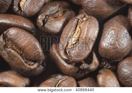 Extreme macro of coffee beans