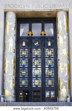 Art Deco entryway, Brooklyn Central Public library