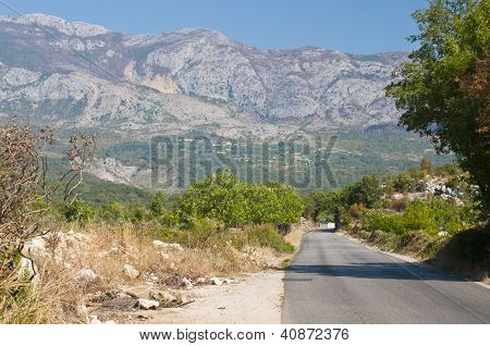 Montenegro mountains and road