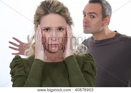 violent couple dispute