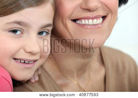 Child sharing a moment with her mother