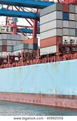 Containership With Cargo Containers