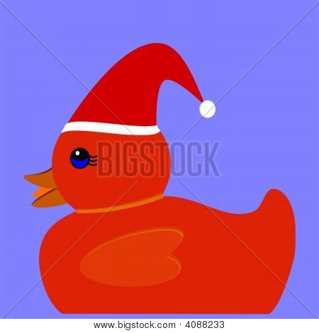 Red Christmas Duck