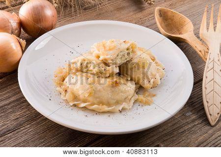 Pierogi.polish Dish .