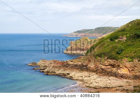 Picturesque Greve de Lecq Beach on Jersey, UK
