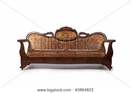 Antique Wooden Couch
