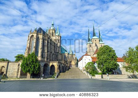 Dom Hill Of Erfurt in Thuringia, Germany