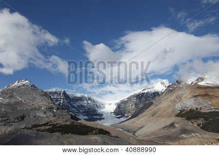 Snow Dome Mountain from Athabasca Glacier - Jasper National Park